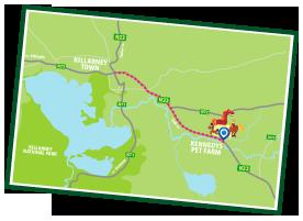 Location of Kennedys Pet Farm