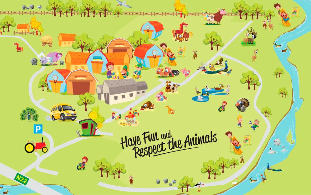 Kennedys farm map